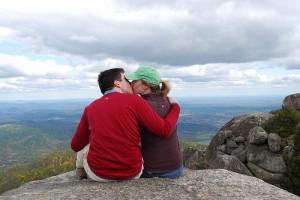 Bill & Kristy on Old Rag Mountain, Virginia
