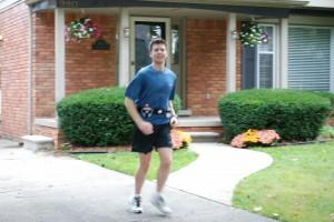 Bill half way through his 18 mile run