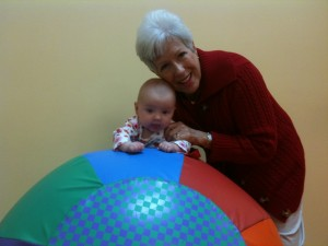 Rolling Around with Grandma